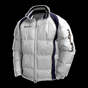 Zimní bunda Royal Sparta, bílá, M – logo