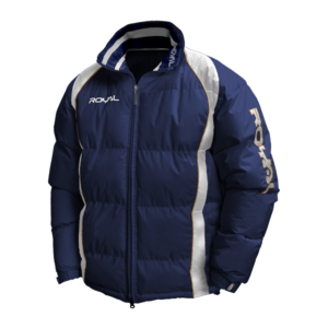 Zimní bunda Royal Sparta, modrá, S – s výšivkou Vajgar